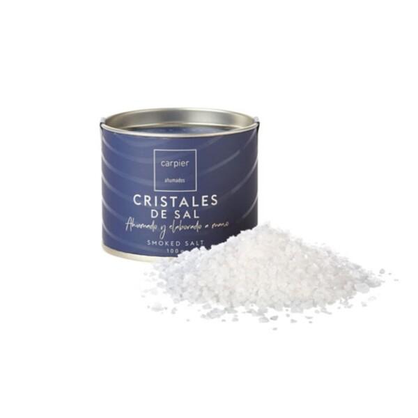 Cristales de Sal Marina Ahumada 100 g.
