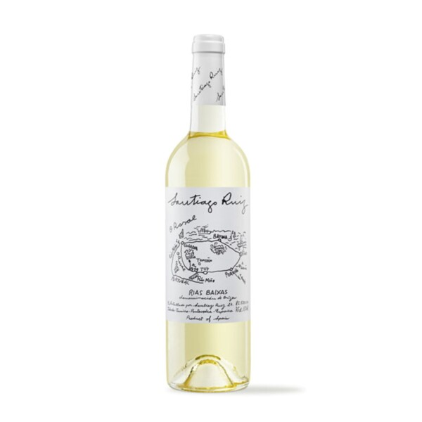 Vino Blanco Albariño D.O. Rias Baixas Santiago Ruiz 75 cl.